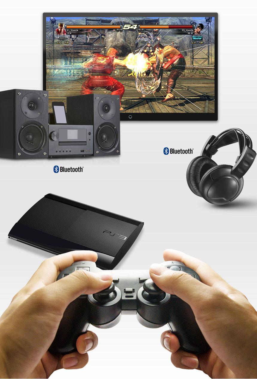 플스 게임을 생생한 사운드로 즐기세요! 게임기와 블루투스 스피커/헤드폰을 무선 연결!